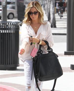 Ashley Tisdale out in Beverly Hills on July 25, 2012