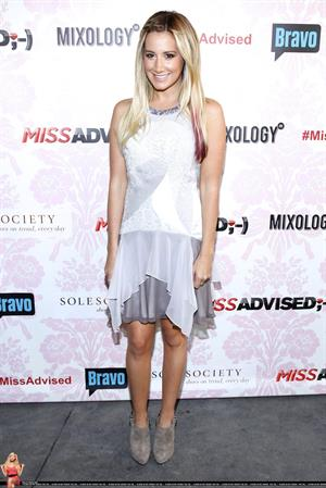 Ashley Tisdale the season premiere viewing party of Bravos Miss Advised on June 18, 2012
