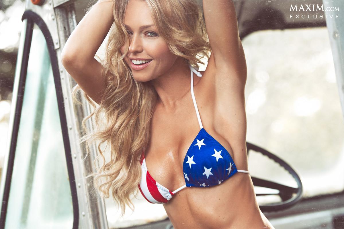 Leticia Cline in a bikini