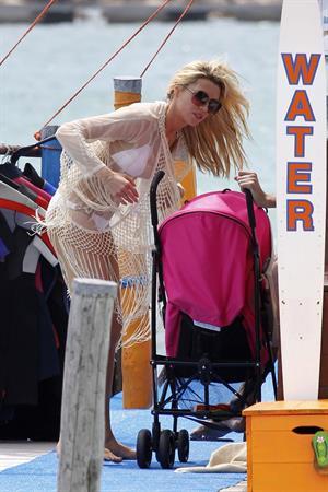 Abigail Clancy bikini candids Sardinia Italy on June 9, 2011