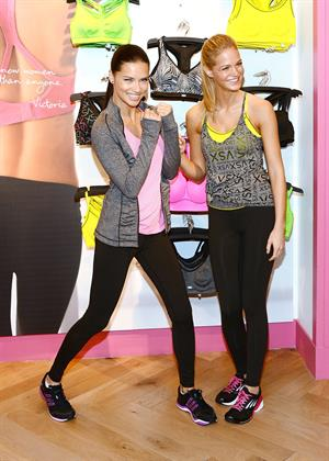 Adriana Lima and Erin Heatherton at Victoria's Secret 'VS' Launch Event in New York City on January 15, 2013