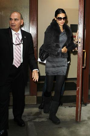 Adriana Lima leaving a medical office in New York City on November 8, 2011