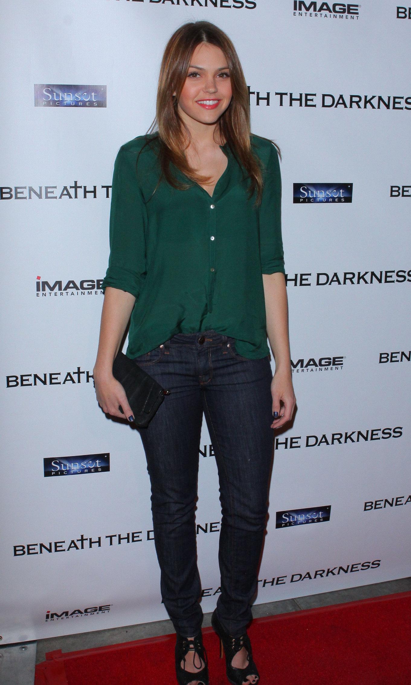 Aimee Teegarden screening of Beneath the Darkness in Los Angeles on January 4, 2011