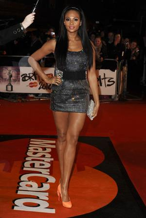 Alesha Dixon at The Brit Awards 2010 at Earls Court, London.  February 16, 2010