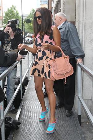 Alesha Dixon - Leaving BBC R1 studios in London - 11-05-12
