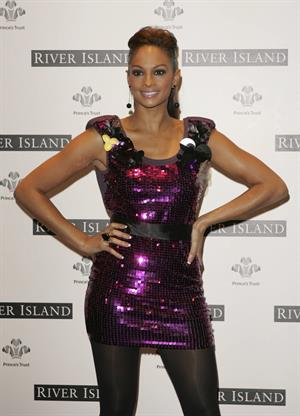 Alesha Dixon - Launch of River Islands TS for the trust a range of T-shirts in aid of the princes trust in London - England