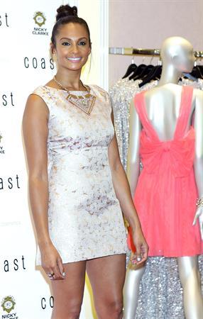 Alesha Dixon - Coast Oxford street - Flagship Store launch - London on June 28, 2012
