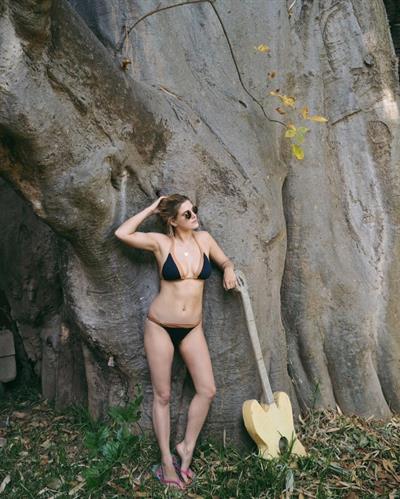 Ashley James in a bikini