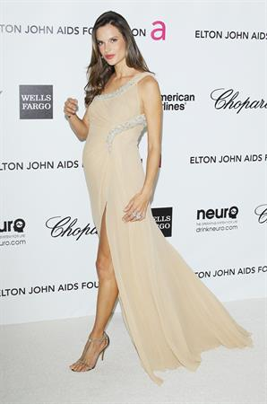Alessandra Ambrosio 20th annual Elton John Aids foundation party on February 26, 2012