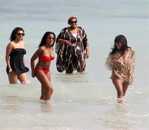 Alexandra Burke bikinis Miami on March 6, 2011