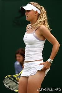 Shapely Tennis Beauty.