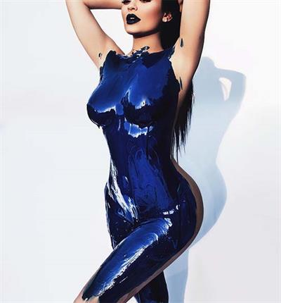 Kylie Jenner in body paint