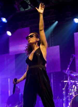Alicia Keys performs at Radio 1's Big Weekend in Bangor on May 22, 2010