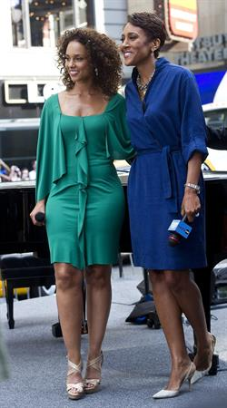 Alicia Keys visits ABC's Good Morning America on June 28, 2011