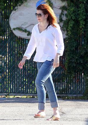 Alyson Hannigan in Santa Monica, CA - September 7, 2012
