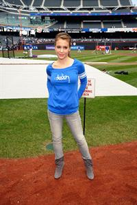 Alyssa Milano grand opening of Touch Boutique Citi Field in New York City