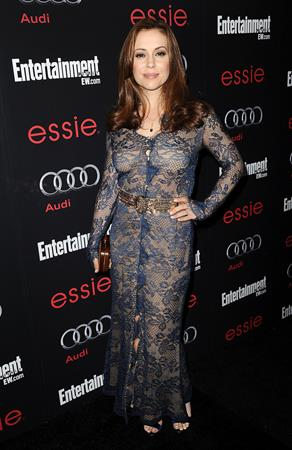 Alyssa Milano The Entertainment Weekly Pre-SAG Party Hosted By Essie And Audi (Jan 26, 2013)