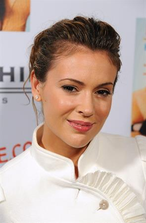 Alyssa Milano Laura Day book launch party for How to Rule the World From Your Couch in Los Angeles, California
