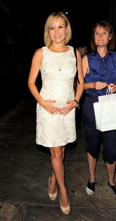Amanda Holden Theatre Royal in London on August 25, 2011
