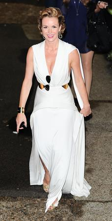 Amanda Holden leaving BGT semi finals on May 8, 2012