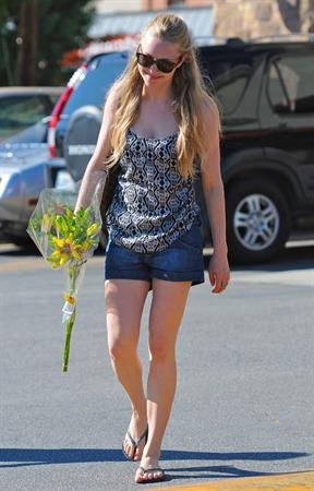 Amanda Seyfried picks up some flowers in Hollywood on October 10, 2010
