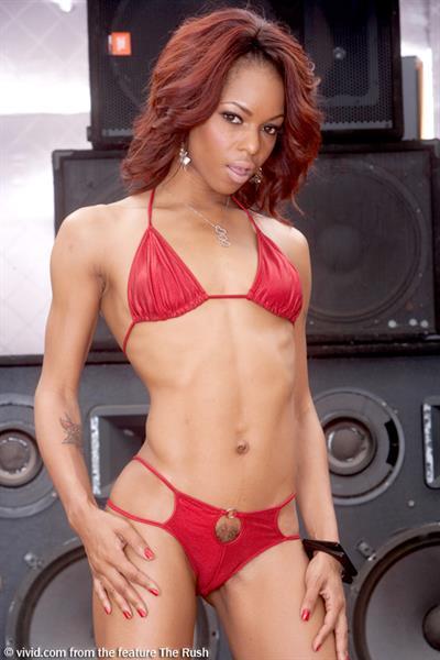 Marie Luv in a bikini