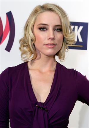 Amber Heard 22nd annual Glaad Media awards in Los Angeles on April 10, 2011
