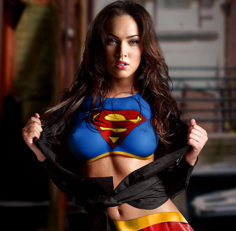 Megan Fox in body paint - breasts