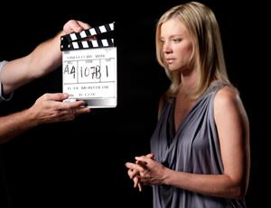 Amy Smart Voto Latino and Telemundos Mun2 shoot of United We Win Campaign on August 5, 2010