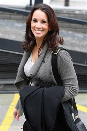 Andrea McLean outside London Studios on April 16, 2012