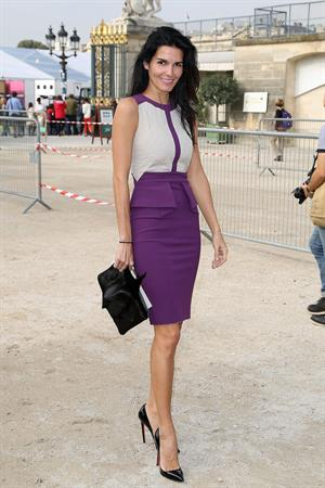 Angie Harmon Elie Saab fashion show at Paris Fashion Week  Sep. 30, 2013