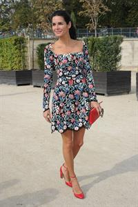 Angie Harmon Valentino fashion show at Paris Fashion Week on Oct. 1, 2013
