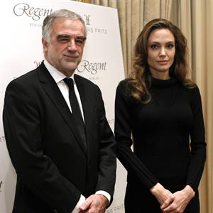 Angelina Jolie Press Workshop of the ICC in Berlin on February 13, 2012