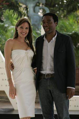 Angelina Jolie promoting her new movie Salt in Mexico on June 30, 2010