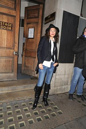 Anna Friel Leaving Vaudeville Theatre,London - October 27, 2012