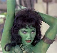 Susan Oliver in body paint