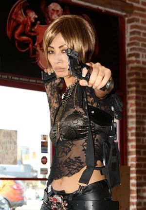 Bai Ling shooting 'Kill Point' in Los Angeles on May 21, 2012