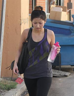 Brenda Song leaving gym in Studio City 11/6/12