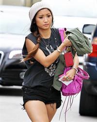 Brenda Song in short shorts in Studio City 10/9/12