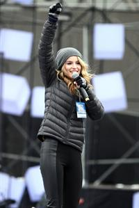 Bridgit Mendler soundcheck at CityTV in Toronto 12/31/12