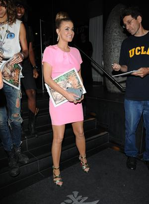 Carmen Electra -  Leaving Katsuya Restaurant in LA 16.08.12