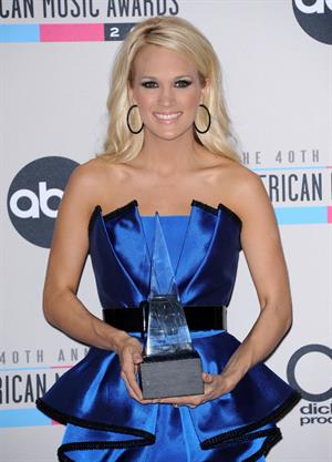 Carrie Underwood American Music Awards - Press Room (November 18, 2012)