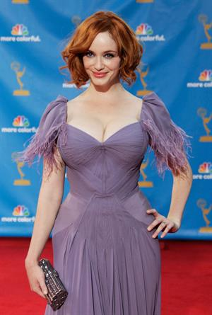 Christina Hendricks at the 62nd Annual Primetime Emmy Awards on August 29, 2010