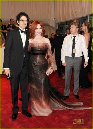 Christina Hendricks Metropolitan Museum of Art Costume Institute Benefit on May 2, 2011