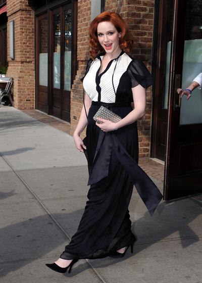 Christina Hendricks outside her hotel in New York City on March 22, 2012