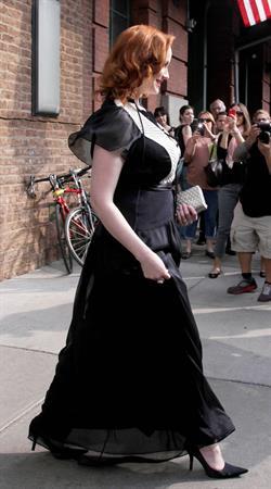 Christina Hendricks outside her hotel in New York City on March 22, 2012
