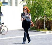 Christina Hendricks out running errands in Culver City on June 21, 2011