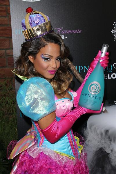 Christina Milian - HPNOTIQ Halloween Launch 10/26/12