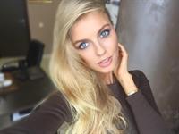 Alena Filinkova taking a selfie