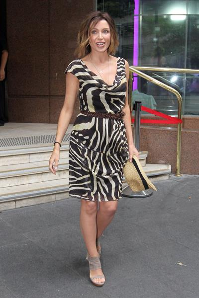 Dannii Minogue leaving Channel 7 Studios in Sydney on February 8th, 2011
